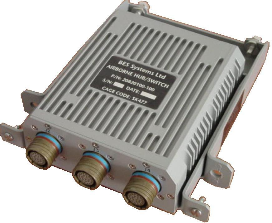 AHS Rugged Avionics unmanaged Ethernet Switch